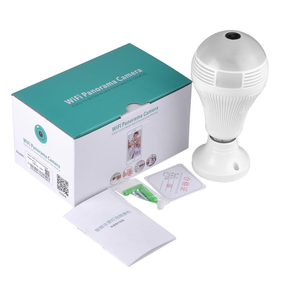 CCTV Kamera Camera Bohlam Lampu Wifi Panorama Kamera VR380 ...
